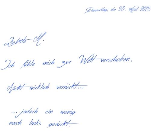 Verrückt Handwriting